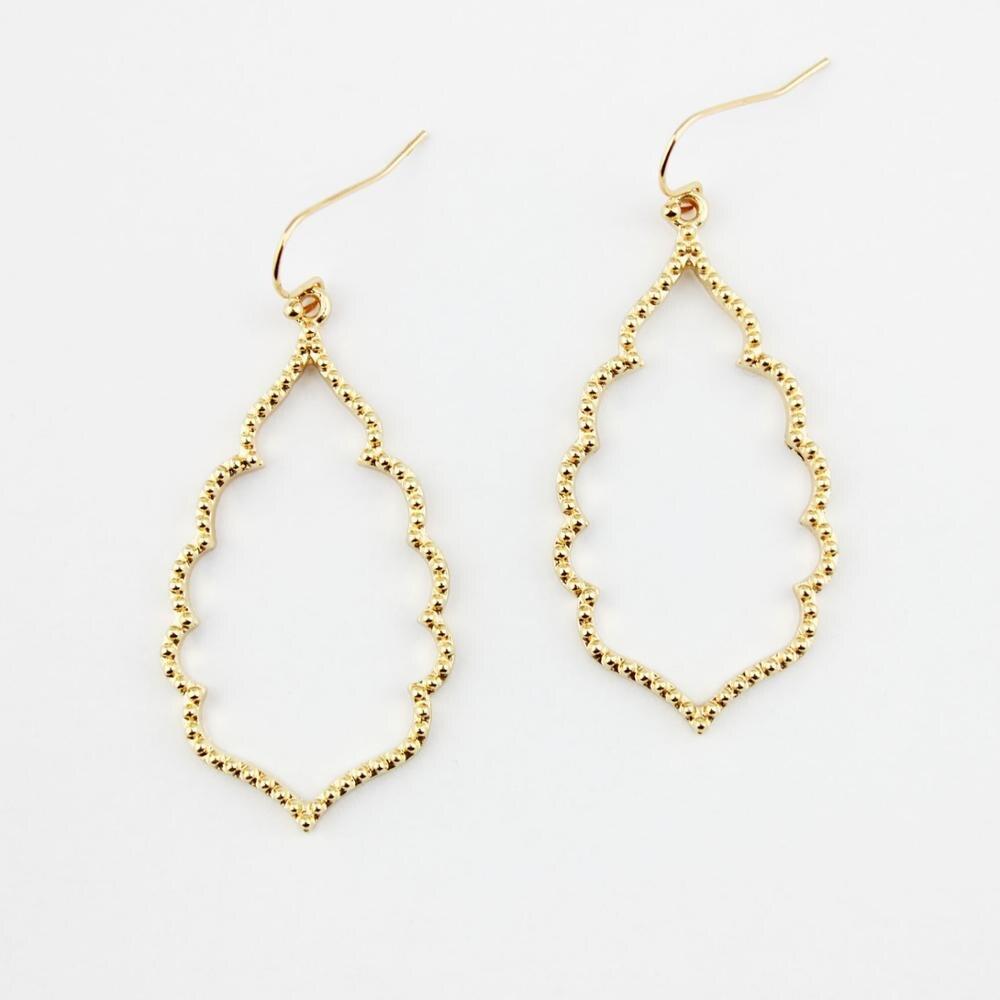 4 цвета,, хит, бренд, дизайнерские, вдохновленные, выдолбленные Висячие серьги-капли для женщин, серьги-капли с монограммой - Окраска металла: E2895 Gold
