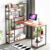 PC Desk office Computer Desk table with Multi shelf bookcase Multifunction household Study desk fashion Laptop table furniture