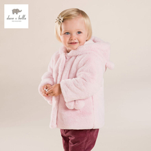 DB4047 ДЭЙВ БЕЛЛА девушки флис пальто дети мода куртки дети розовый верхняя одежда