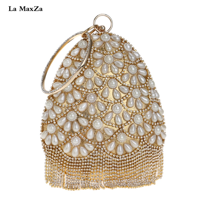 La MaxZa Fashion Ladies New Bags One-shoulder Evening Bag New Fashion Women Clutch Bag With Wrist Strap Many Colors Evening Bag one enchanted evening