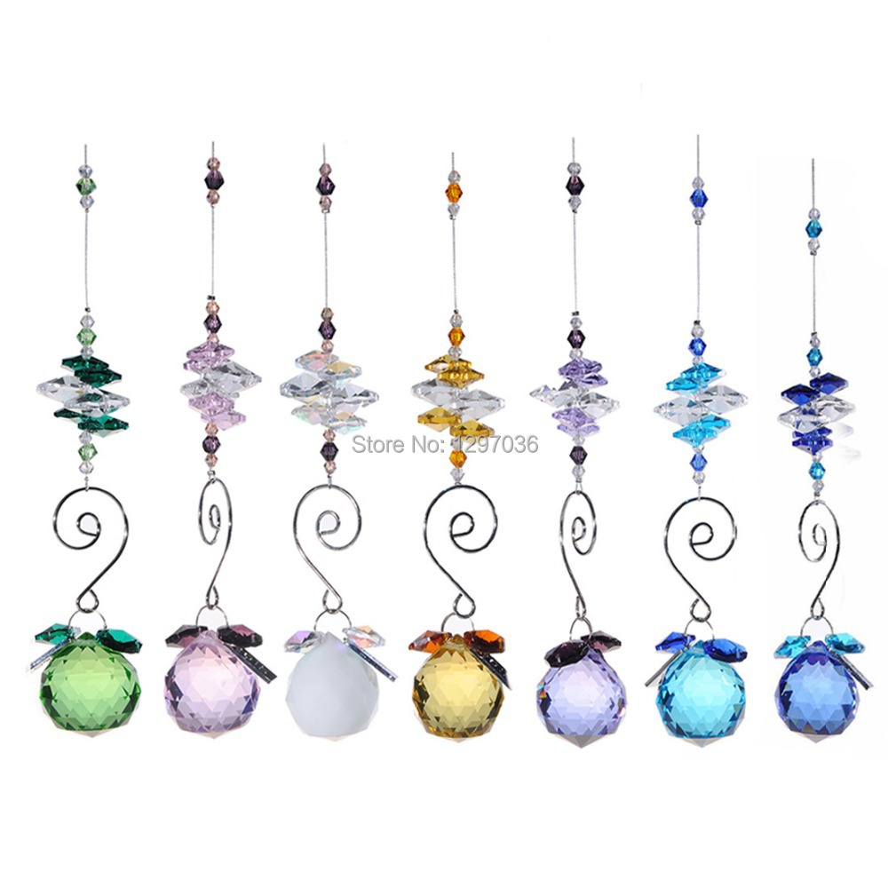 7pcslot 30mm rainbow window suncather chandelier parts lighting 7pcslot 30mm rainbow window suncather chandelier parts lighting ball crystal prisms crafts hanging pendant curtain home decor in figurines miniatures arubaitofo Gallery