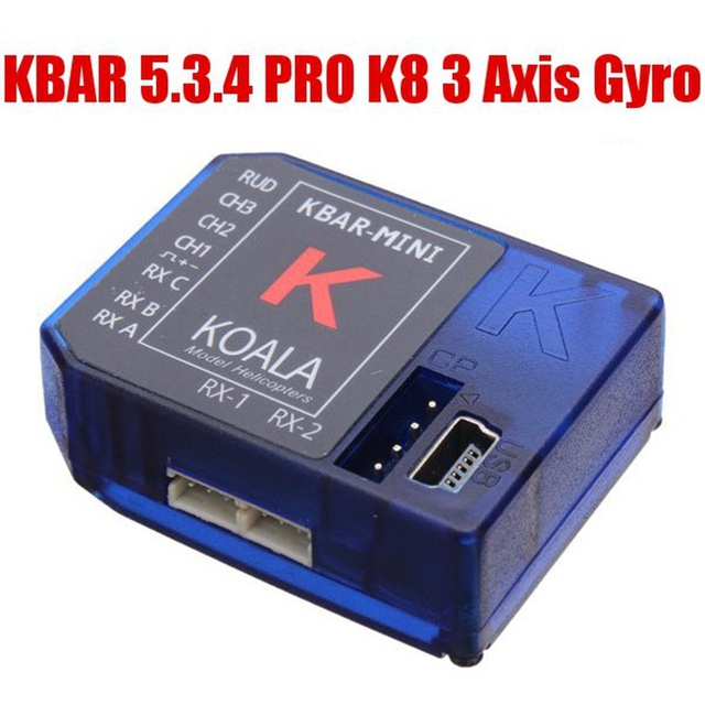KBAR 5.3.4 PRO K8 3 Axis Gyro Flybarless System For RC Helicopter Part