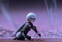 Robots cyborgs roger dean girl science fiction album covers YR100 room home wall modern art decor wood frame poster