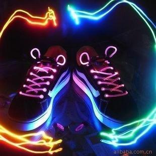 FREE SHIPPING  50piece/lots colorful led flashing shoelace