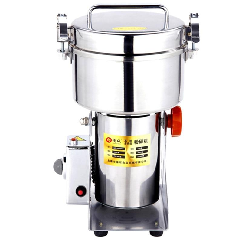 1000g Automatic Leaf Tea Grinder Industrial Stainless Steel Dry Spice Grinder Machine Universal Pulverizer/powder pulverize