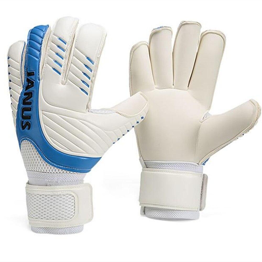 Kids Men Goalkeeper Gloves Finger Protection Thicken Latex Soccer Football Fingersave Goalie Glove emulsion Non-slip Breathable