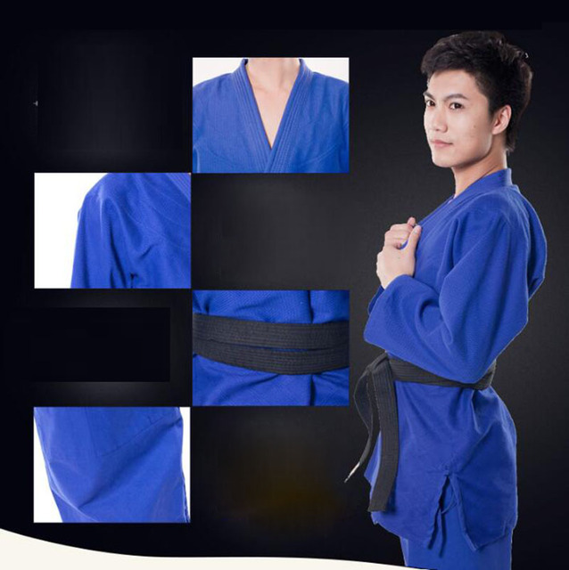 3xs to 3xl Kimono Judo Kong FU Clothing Suit Adult Children Cotton Thickened Clothes Costume Judo Uniform Set 2 Colors Quality 4