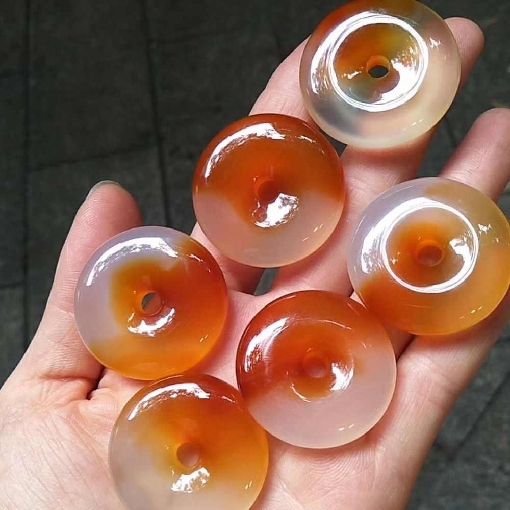 35-40 milímetros donut forma natural ágata grânulos de gemstone natural DIY contas solta pérolas para a jóia fazendo 1 peça atacado