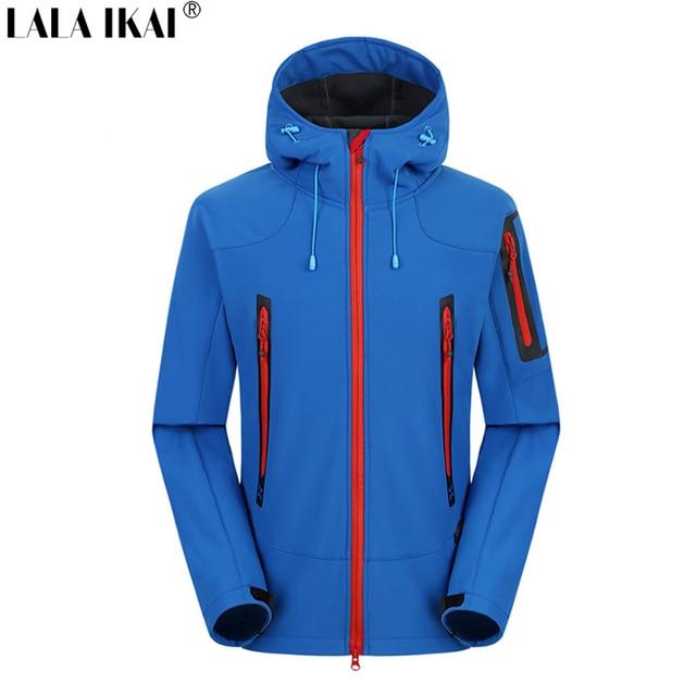 Men Outdoor Softshell Fleece Jacket Waterproof Skiing Trekking ...