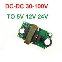 Dykb DC DC Buck Converter Dc 24V 100V 36V 48V 64V 72V 84V 96V Naar 5V 12V / 24V 2A Step Down Power Supply Module Volt Gereglementeerde