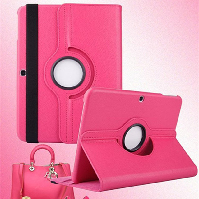 New Case For Samsung Galaxy Tab 4 10.1 inch T530 / T531 / T535 PU Leather Rotating Tablet Case with Four Card Bits CL65