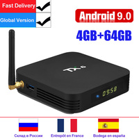 Android 9.0 TV Box TX6 Smart Android TV Box Allwinner H6 2GB/4GB DDR3 RAM 32GB/64GB 2.4G/5GHz WiFi BT4.1 H.265 4K Media Player