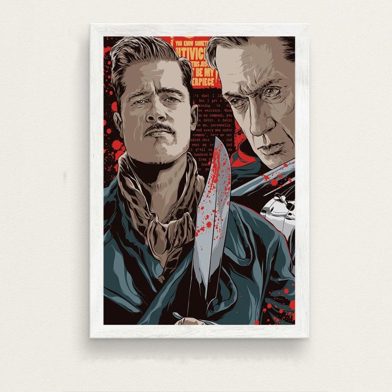 Inglourious Basterds Quentin Tarantino Movie Art Silk Poster 12x18 24x36