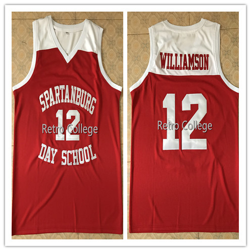 e062eab53  12 Zion Willamson Spartanburg Griffins day school Mens Basketball Jersey  embroidery Stitched Custom Any name