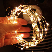 1M 2M 3M 5M 10M Copper Wire LED String lights Holiday lighting Fairy Garland For Christmas Tree Wedding Party Decoration(China)
