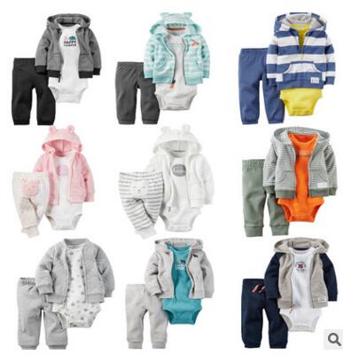 3 pcs Autumn and winter kids baby boy clothes coat+bodysuit+pant baby girl clothes infant boy clothing set,roupas bebes meninos 2017 hot newborn infant baby boy girl clothes love heart bodysuit romper pant hat 3pcs outfit autumn suit clothing set