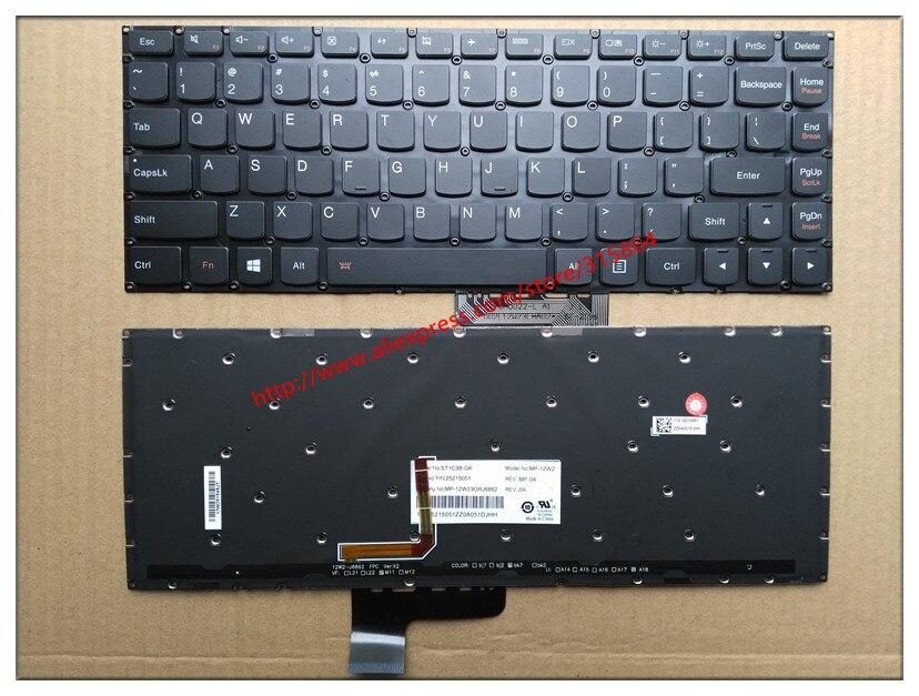US Nouveau clavier d'ordinateur portable pour Lenovo yoga 2 13 yoga 2 13 yoga 2 pro 13 Anglais noir