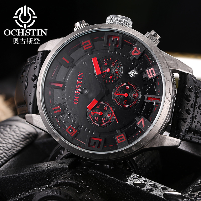 Ochstin Sale New 2016 Sport Watches Military Army Watch Men Luxury Brand Leather Waterproof Male Clock