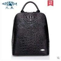 Yuanyu Новый сумка из крокодильей кожи Натуральная кожа Тайский крокодиловой кожи рюкзак из натуральной кожи для женщин из крокодиловой кожи