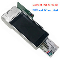 Handheld POS Terminal Android Portable Bluetooth Wifi Smart device EMV payment NFC pos terminal with printer