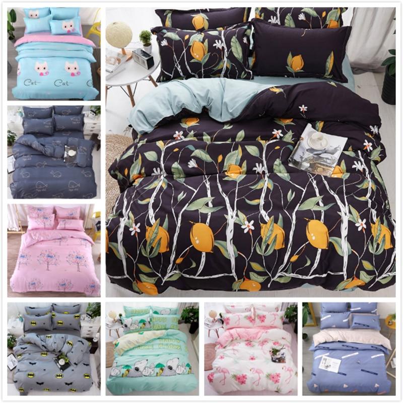 Big Size Couple Double Duvet Cover 3/4 pcs Bedding Set 200x230 220x240 Kids Child Cotton Bed Linens Single Twin Queen King Size