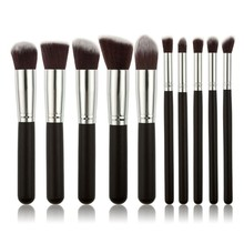 10pc Make Up Brushes Set with Powder Eyebrow Shadow Blush Brush