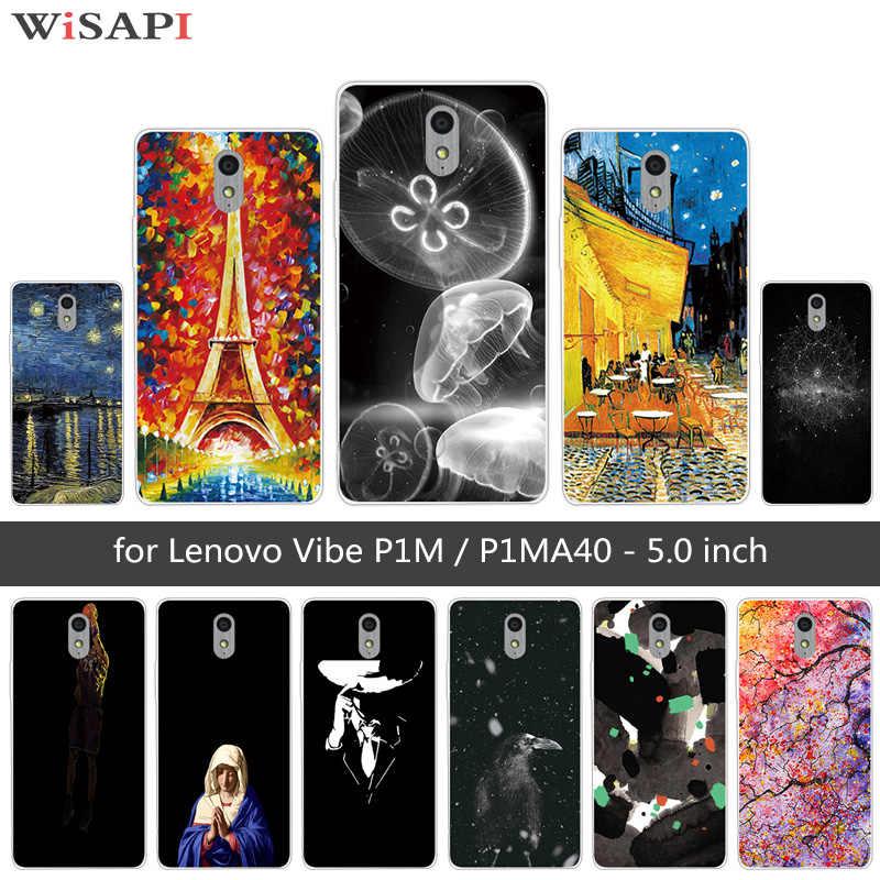 5.0 Inch Untuk Lenovo Vibe P1M Kasus Soft Cover TPU Penutup Untuk Lenovo Vibe P1m P1ma40 Ubur-ubur Kasus Telepon Coque Untuk Lenovo P1 m tas