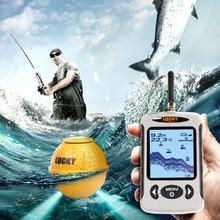LUCKY Wireless Sonar Fish Finder 2.0~135ft Waterproof Sea Fishing Probe Detector Sounder Alarm Fishfinder with Dot Matrix Pesca