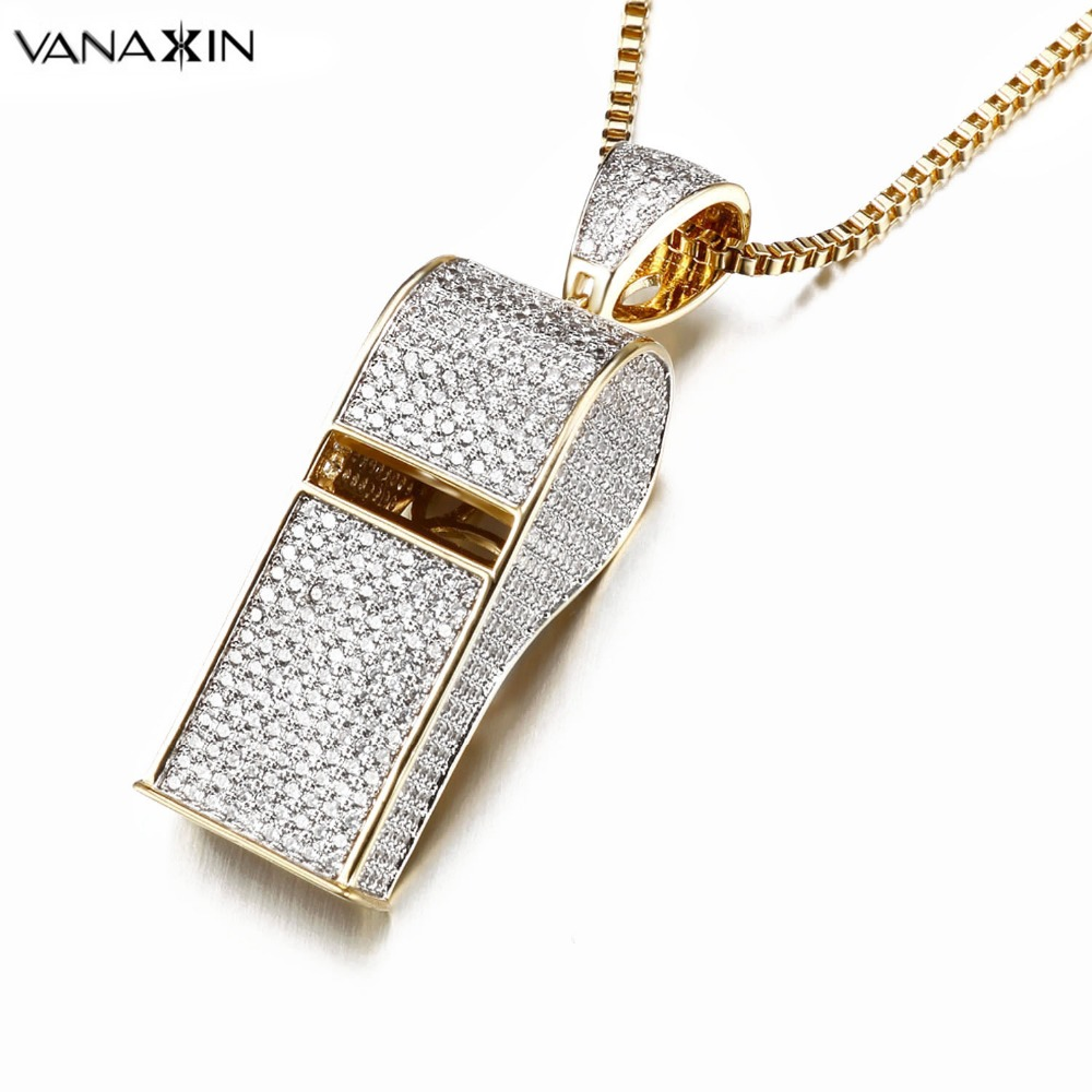 ice products necklace rose kingice cz whistle gold king