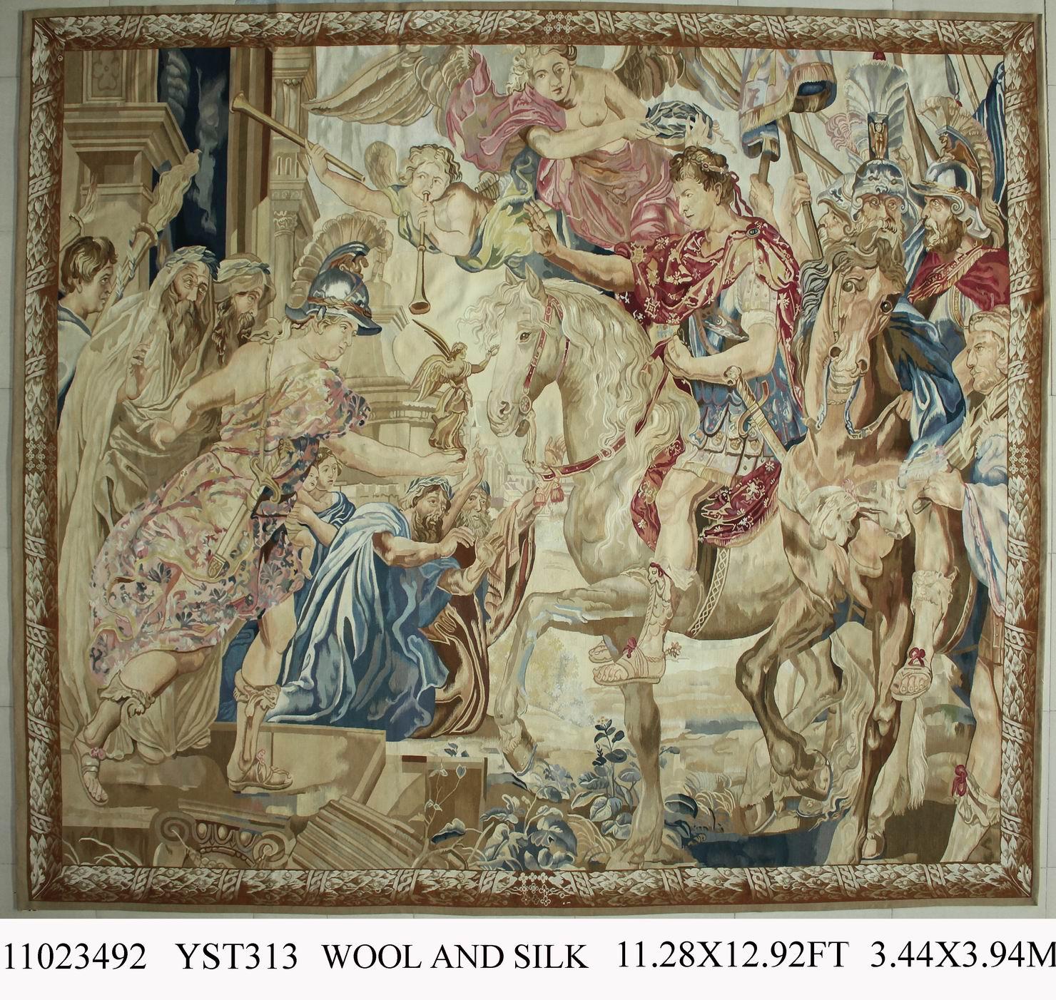 Чистый Ручная работа; вязаное; шерстяное дворец Французский Aubusson гобелены ткань Гобелены широкий (335 см) 11023492 11.28x12.92gc88tapyg4
