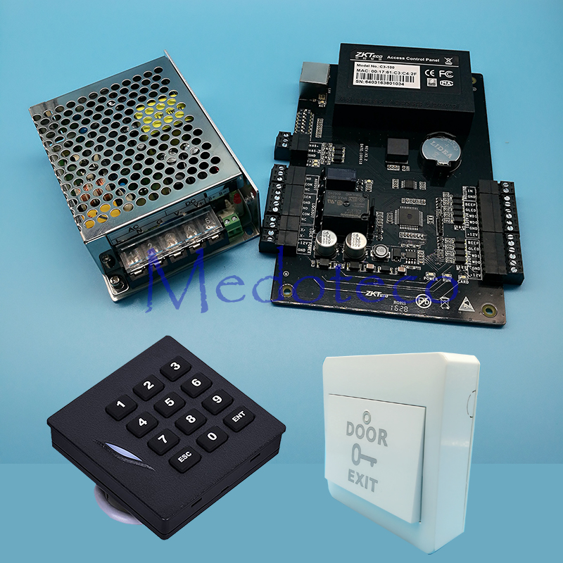 Tcp/ip Rfid Door Access Control System Kit Keypad Reader Door Access Controller with Power Suppply Keypad Slave Reader C3-100 biometric fingerprint access controller tcp ip fingerprint door access control reader