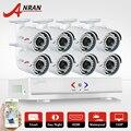 Plug & play anran 8ch ahd dvr1080n hdmi h.264 cctv kit sistema de câmera 1.0mp 720 p 1800tvl à prova d' água de segurança ao ar livre conjunto câmera