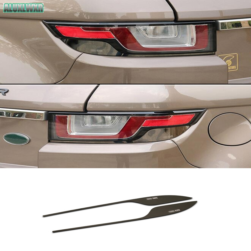 Car-Styling Head Tail Light Lamp Headlight Eyebrow Eyelid Cover Trim Chrome Decor Strip fit For Land Rover Range Rover Evoque newest for land rover range rover evoque abs center console gear panel chrome decorative cover trim car styling 2012 2017