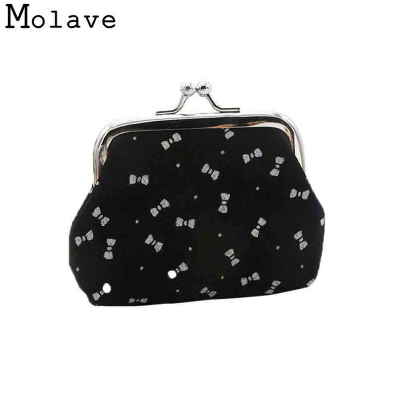 Naivety Cotton Cloth Coins Purses Bow Knot Printing Coin Purse Small Cute Hasp Wallet 50S71213 drop shipping