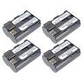 Batmax 4 unids bp-511a bp511a bp-511 bp 511a batería para canon eos 300d 10d 20d OS 30D 40D 30D 40D 50D 5D D30 D60 G6 G1 Pro 1 PV130