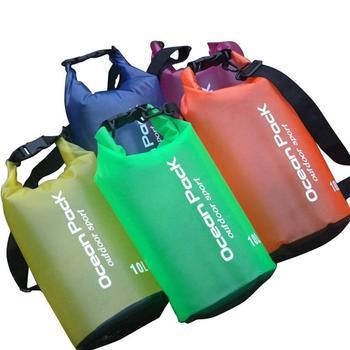 Bolso seco impermeable almacenamiento translúcido bolsa de deporte al aire libre para playa Canoa kayak Rafting canotaje pesca Camping
