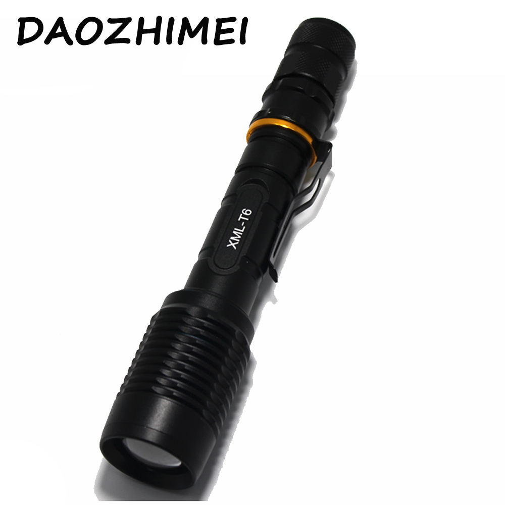 5000 lumen flashlight cree xm l t6 led flashlight torch zoom lamp light 2x18650 battery eu us au. Black Bedroom Furniture Sets. Home Design Ideas