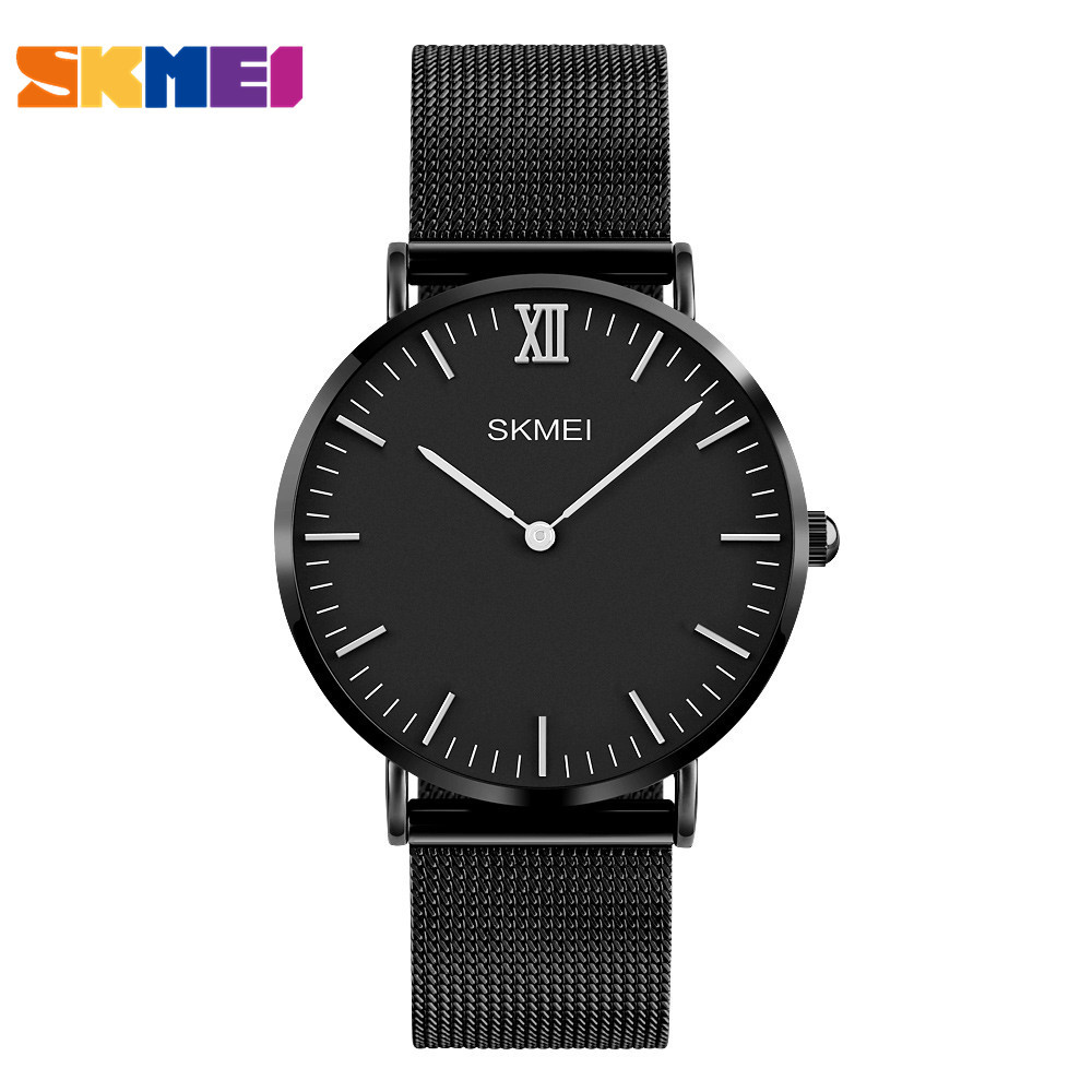 SKMEI Fashion Top Luxury Watch Men Brand Men's Watches Ultra Thin Stainless Steel Mesh Band Quartz Wristwatches Male watches onlyou brand luxury fashion watches women men quartz watch high quality stainless steel wristwatches ladies dress watch 8892