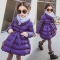 2017 Jaquetas Para Meninas Roupas Crianças roupas Meninas Casaco de Inverno Moda Parka Casaco de Algodão Grosso roupa Dos Miúdos Idade 2-14Y
