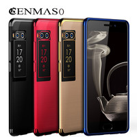 Cenmaso Plating Capa For Meizu Pro 7 Case Luxury Transparent Silicon Soft TPU Back Cover For