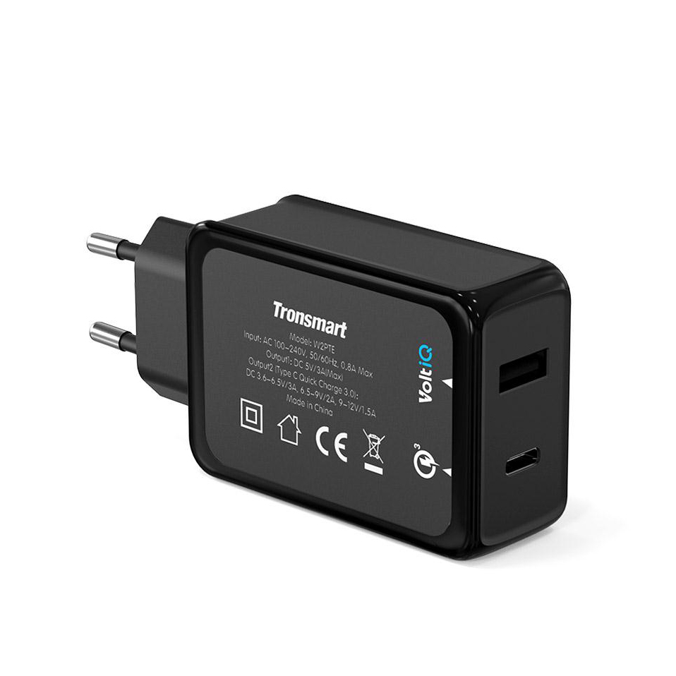 Tronsmart W2PTE USB Type C Quick Charge 3.0 USB Charger with USB VoltiQ for Xiaomi for LG G5 Fast Phone Charger Adapter EU Plug 4