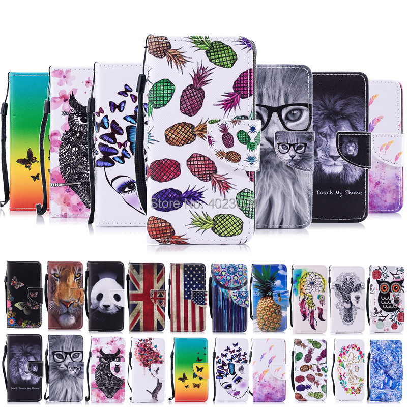 For Apple iPhone X Case Flip PU Leather Painted Animals Tiger owl Panda Wallet Card Slot For iPhone X Case Stand Cover