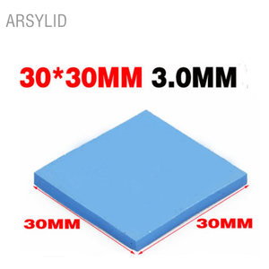 ARSYLID High quality 30*30*3.0mm Thermal conductivity 3.6W GPU CPU Heatsink Cooling Conductive Silicone Pad Thermal Pad