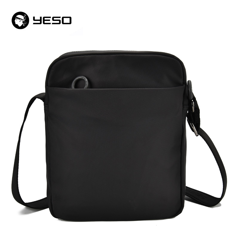 YESO Men's Messenger Bag Waterproof Oxford Bag 2018 New Fashion Casual Crossbody Bags Shoulder Bag Black