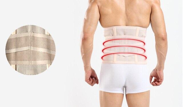 Men Sweat Girdle Slimming Abdominal Belt Waist Cinchers Back Posture Corrector Fit Body Trainer Band Bones Support Body Prayger 3