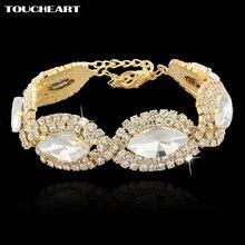 Toucheart Новые Белые Свадебные модные ювелирные изделия браслеты