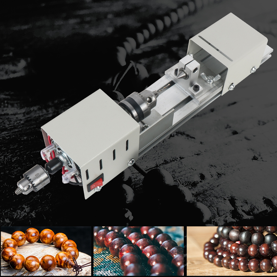 12-24V Mini tour machines-outils tour Standard ensemble bricolage travail du bois bouddha perle meulage polissage Mini perles Machine - 6