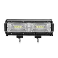 Safego 144W Led Work Light Bar Mirror Spot Beam For Driving Offroad Boat Car Tractor Truck SUV ATV 12V 24V Off Road 6000K 6500K
