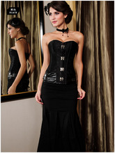 Sexy corpetes e espartilhos plus size steampunk clothing buckle steel corset top modeladora slim waist training women corselet