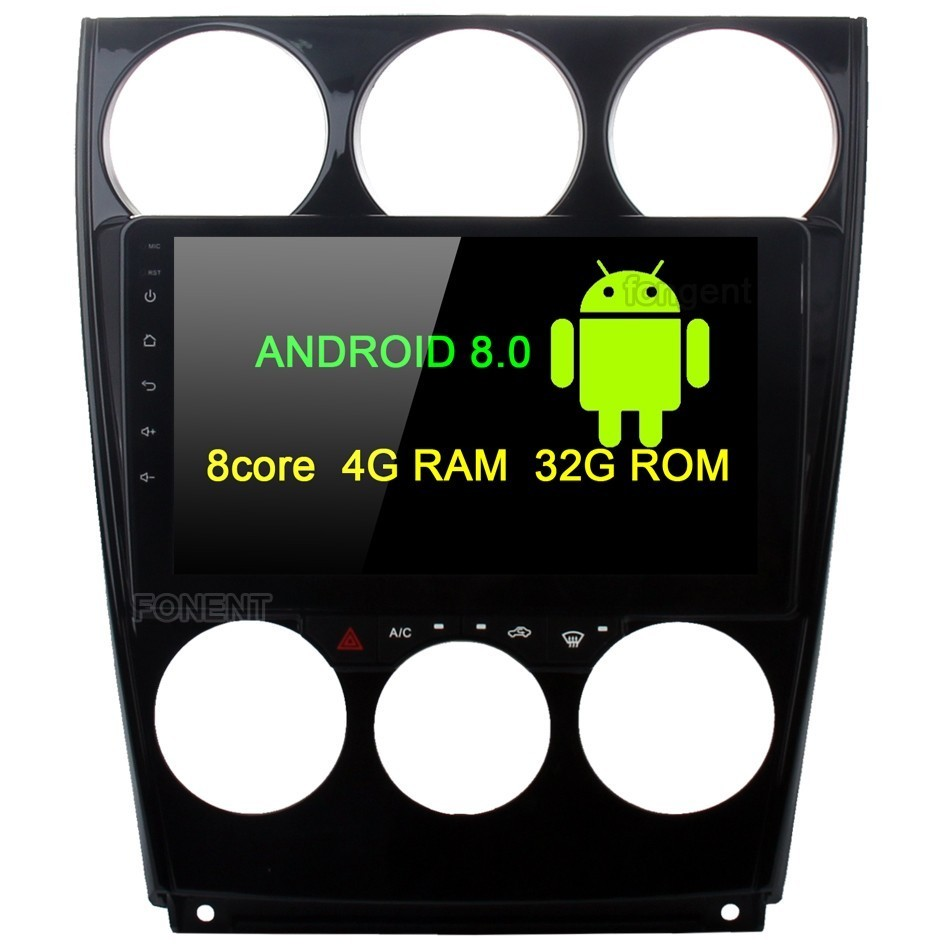 9 Car Radio Android 8.0 Multimedia Player for Mazda 6 GPS 2006 2007 2008 2009 2010 2011 2012 2013 Head Unit 4G 32G Octa-core 6 44 2011